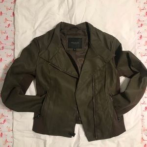 Olive green MARC Faux leather/suede jacket
